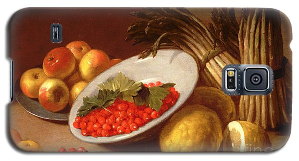 Still Life Of Raspberries Lemons And Asparagus  Galaxy S5 Case by Italian School