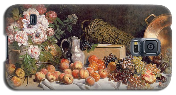 Still Life With Flowers And Fruit On A Table Galaxy S5 Case by Alfred Petit