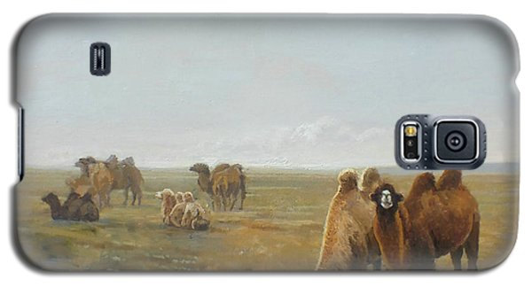 Camels Along The River Galaxy S5 Case by Chen Baoyi