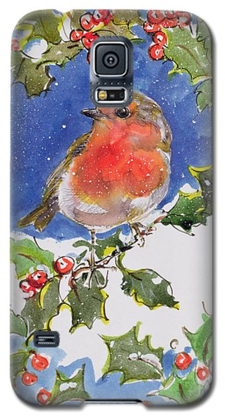 Christmas Robin Galaxy S5 Case by Diane Matthes