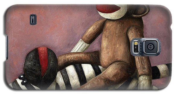 Dirty Socks 3 Playing Dirty Galaxy S5 Case by Leah Saulnier The Painting Maniac