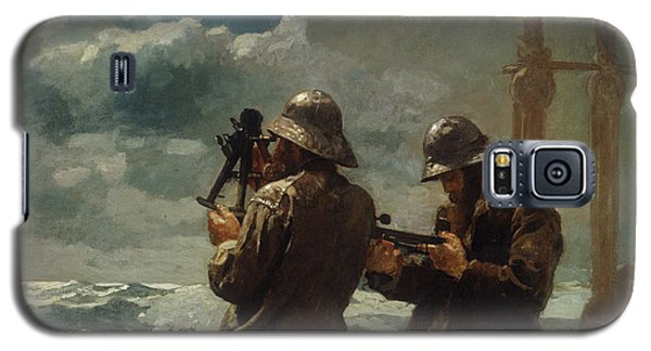 Seascape Galaxy S5 Cases - Eight Bells Galaxy S5 Case by Winslow Homer