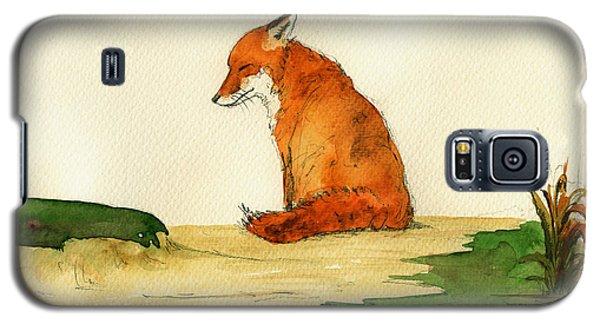 Fox Sleeping Painting Galaxy S5 Case by Juan  Bosco