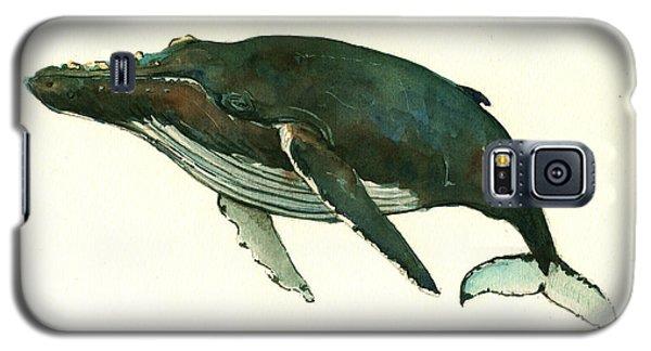 Humpback Whale  Galaxy S5 Case by Juan  Bosco
