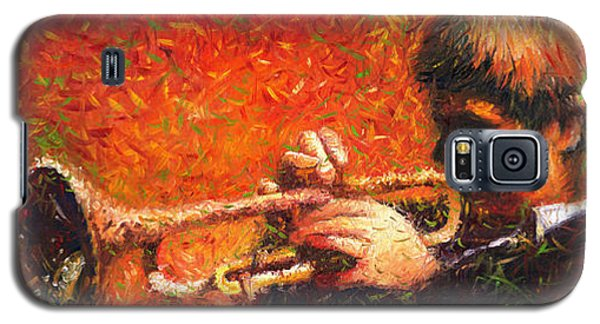 Jazz Trumpeter Galaxy S5 Case by Yuriy  Shevchuk