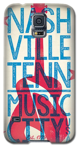 Nashville Tennessee Poster Galaxy S5 Case by Jim Zahniser