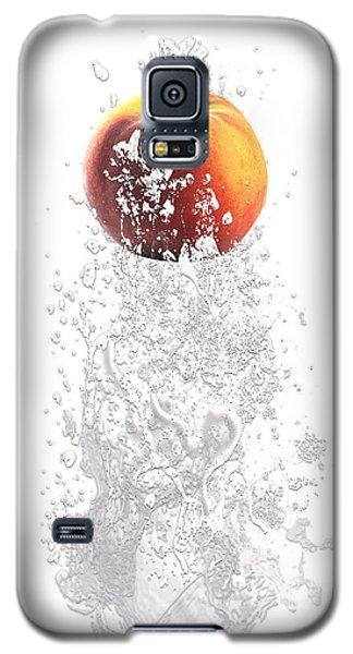 Peach Splash Galaxy S5 Case by Marvin Blaine