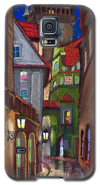Drawings Galaxy S5 Cases - Prague Old Street  Galaxy S5 Case by Yuriy  Shevchuk