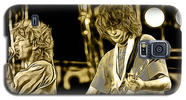 Robert Plant And Jimmy Page Galaxy S5 Case by Marvin Blaine