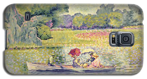 The Promenade In The Bois De Boulogne Galaxy S5 Case by Henri-Edmond Cross