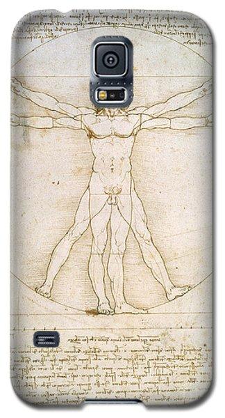 The Proportions Of The Human Figure Galaxy S5 Case by Leonardo da Vinci