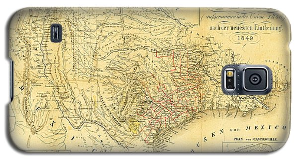 1849 Texas Map Galaxy S5 Case by Bill Cannon