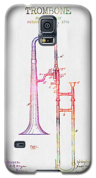 1902 Trombone Patent - Color Galaxy S5 Case by Aged Pixel
