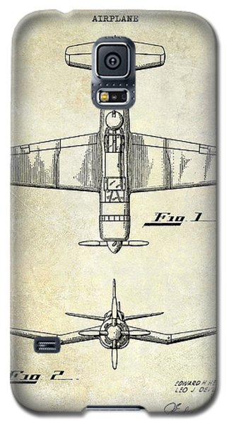 1946 Airplane Patent Galaxy S5 Case by Jon Neidert