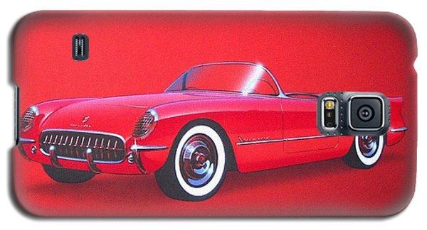 1953 Corvette Classic Vintage Sports Car Automotive Art Galaxy S5 Case by John Samsen