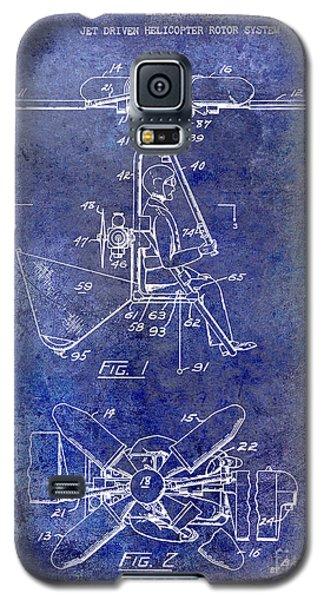 1956 Helicopter Patent Blue Galaxy S5 Case by Jon Neidert