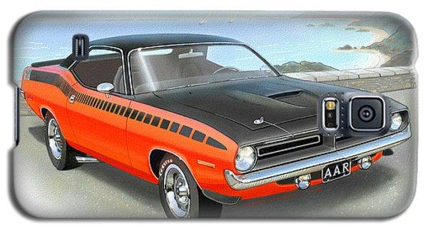 1970 Barracuda Aar  Cuda Classic Muscle Car Galaxy S5 Case by John Samsen