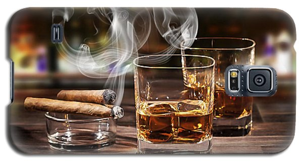 Cigar And Alcohol Collection Galaxy S5 Case by Marvin Blaine