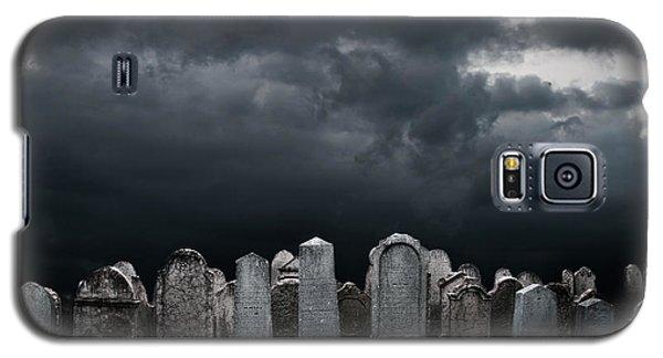 Pyrography Galaxy S5 Cases - Graveyard Galaxy S5 Case by Jelena Jovanovic