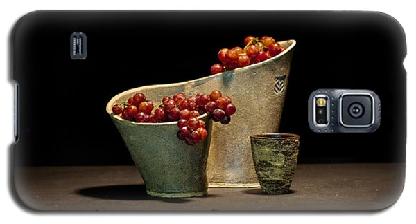 Ceramics Galaxy S5 Cases - Still Life with Grapes Galaxy S5 Case by William Sulit