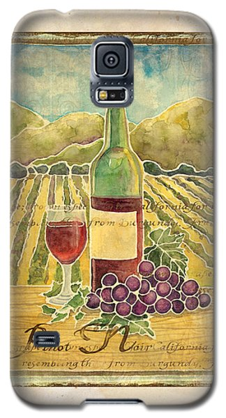 Vineyard Pinot Noir Grapes N Wine - Batik Style Galaxy S5 Case by Audrey Jeanne Roberts