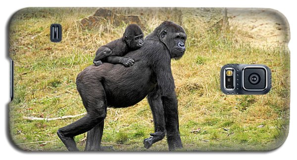 Western Gorilla And Young Galaxy S5 Case by Jurgen & Christine Sohns/FLPA