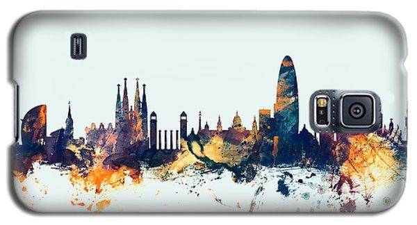 Barcelona Spain Skyline Galaxy S5 Case by Michael Tompsett