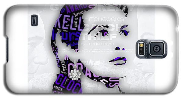 Grace Kelly Movies In Words Galaxy S5 Case by Marvin Blaine