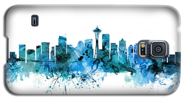 Seattle Washington Skyline Galaxy S5 Case by Michael Tompsett