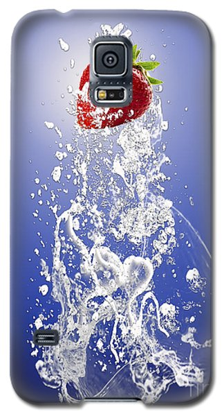 Strawberry Splash Galaxy S5 Case by Marvin Blaine