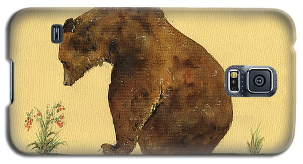 Grizzly Bear Watercolor Painting Galaxy S5 Case by Juan  Bosco