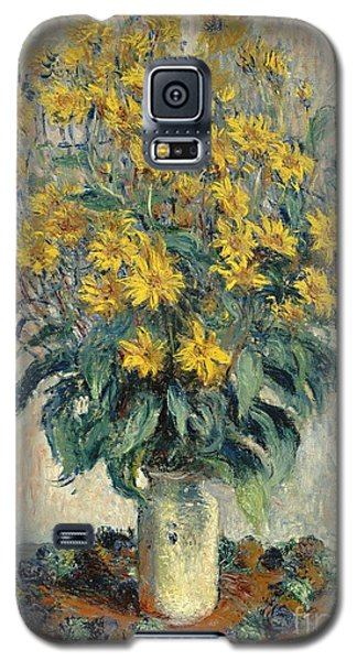 Jerusalem Artichoke Flowers Galaxy S5 Case by Claude Monet