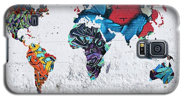 Map Of The World Galaxy S5 Case by Mark Ashkenazi