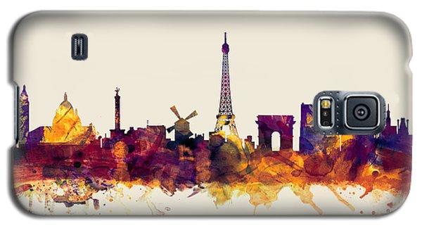Paris France Skyline Galaxy S5 Case by Michael Tompsett