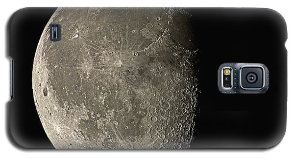 Moon Galaxy S5 Cases - Waning Gibbous Moon Galaxy S5 Case by Eckhard Slawik
