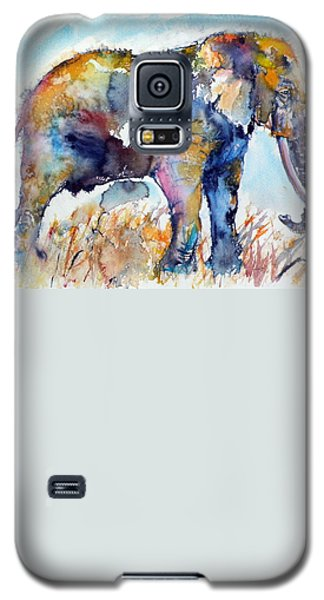 Buy Galaxy S5 Cases - Colorful elephant Galaxy S5 Case by Kovacs Anna Brigitta