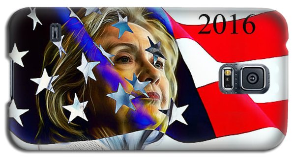 Hillary Clinton 2016 Collection Galaxy S5 Case by Marvin Blaine