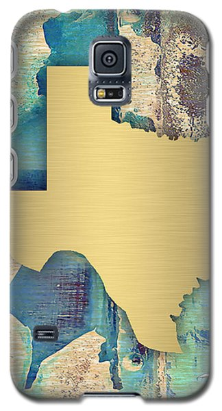 Texas State Map Collection Galaxy S5 Case by Marvin Blaine