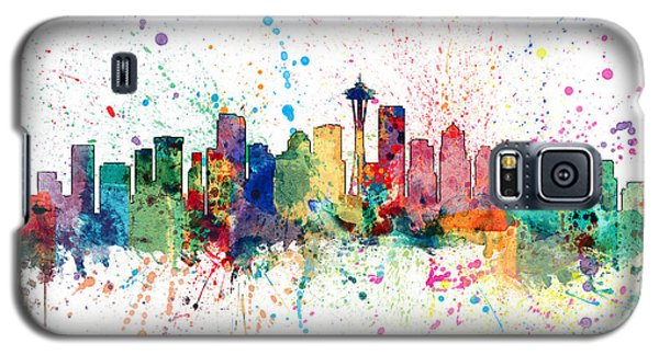 Recently Sold -  - Buy Galaxy S5 Cases - Seattle Washington Skyline Galaxy S5 Case by Michael Tompsett
