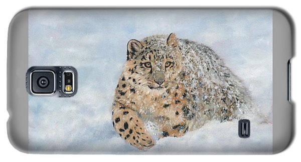 Snow Leopard Galaxy S5 Case by David Stribbling
