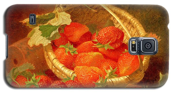 A Basket Of Strawberries On A Stone Ledge Galaxy S5 Case by Eloise Harriet Stannard