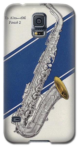 A Charles Gerard Conn Eb Alto Saxophone Galaxy S5 Case by American School