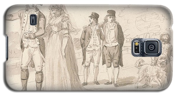 A Family In Hyde Park Galaxy S5 Case by Paul Sandby