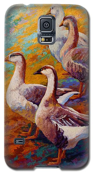 A Gaggle Of Four - Geese Galaxy S5 Case by Marion Rose