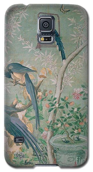 A Pair Of Magpie Jays  Vintage Wallpaper Galaxy S5 Case by John James Audubon