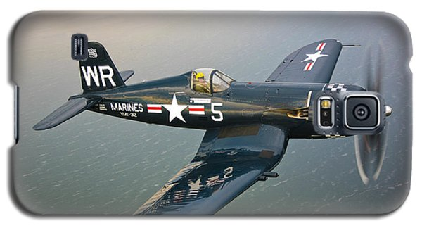 A Vought F4u-5 Corsair In Flight Galaxy S5 Case by Scott Germain