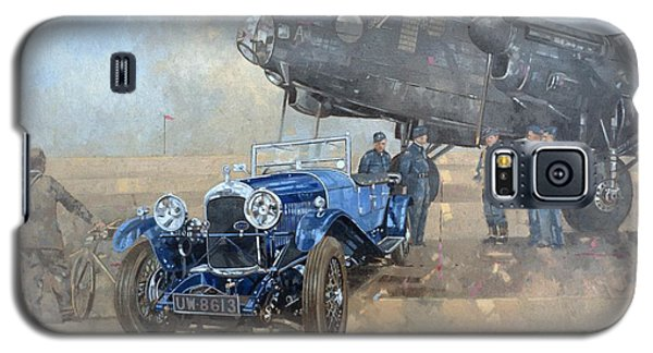 Able Mable And The Blue Lagonda  Galaxy S5 Case by Peter Miller