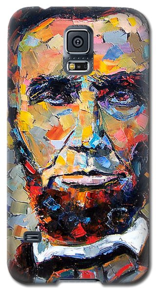 Impressionism Galaxy S5 Cases - Abraham Lincoln portrait Galaxy S5 Case by Debra Hurd