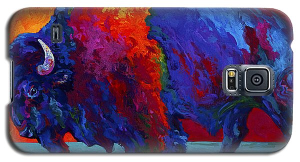 Abstract Bison Galaxy S5 Case by Marion Rose