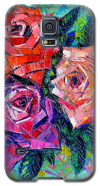 Abstract Bouquet Of Roses Galaxy S5 Case by Mona Edulesco